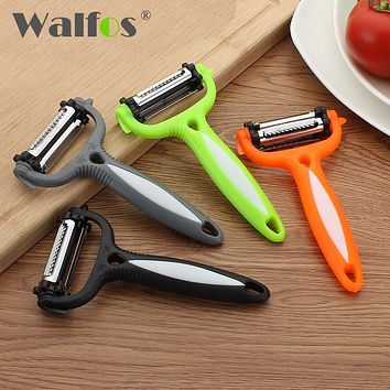 WALFOS Kitchen gadgets Swiss Military Grater Peeler Slicer 3 in 1 Apple Potato Fruit Vegetable Tools Kitchen Accessories