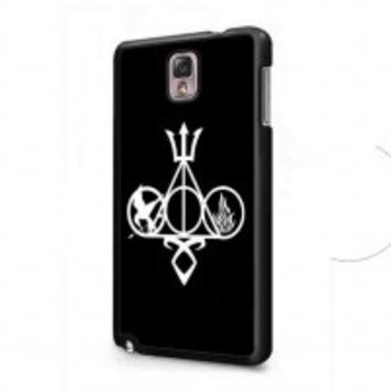 Harry Potter, Percy Jackson, Mortal Instruments, Hunger Games, and Divergent for samsung galaxy note 3 case