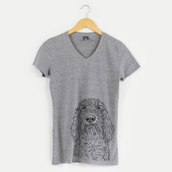 Stefano the Spinone Italiano - Women's Modern Fit V-neck Shirt