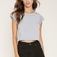 Cuffed-Sleeve Burnout Tee