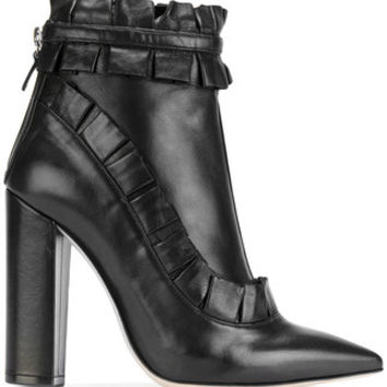 Racine Carree Ruched Ankle Boots - Farfetch