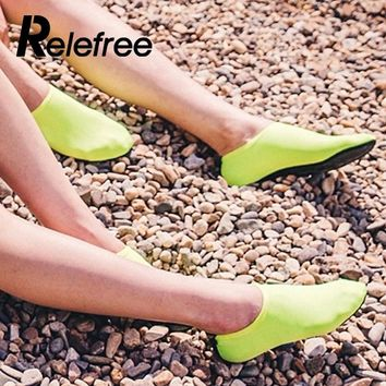 Relefree Water Sports Diving Socks Swimming Snorkeling Non-slip Seaside Beach Shoes Scratch Prevent Quick Dry Aqua Water Socks