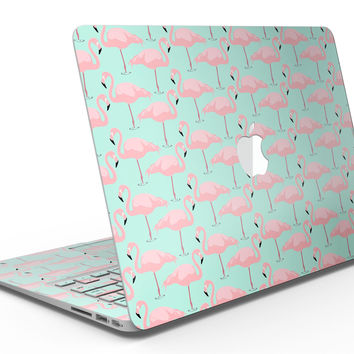 Tropical Twist Flamingos v7 - MacBook Air Skin Kit