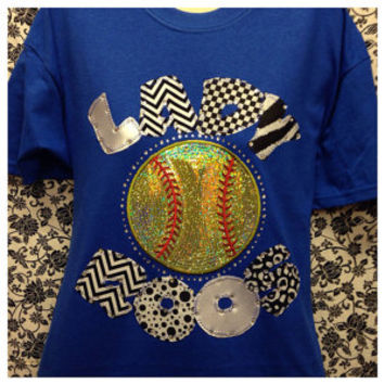 Custom Bling Softball/Baseball T-Shirt