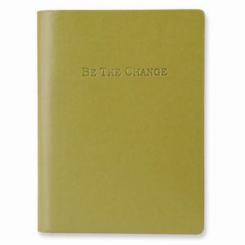 Be the Change Faux Leather Essentials Journal - Embossing Personalized Gift Item