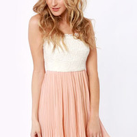 Tulip Temptations Strapless Blush Pink Dress