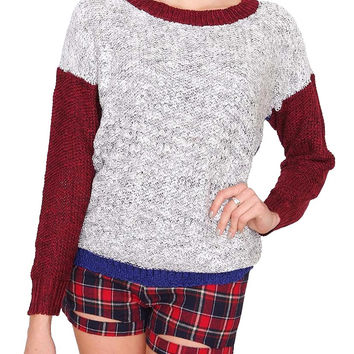 Color Play Sweater - Ivory