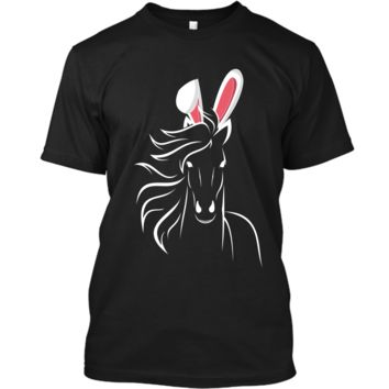 Horse Easter T-Shirt For Women Teens Girls Custom Ultra Cotton