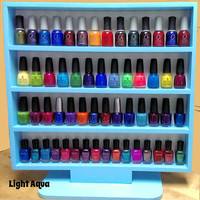 "Freestanding Nail Polish Rack for Full Size Bottles with Built In Stand for Desk, Table, or Vanity, over 20 Color Choices - ""Daft Whimsit"""