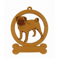 Pug Standing 2 Ornament 083759 Personalized With Your Dog's Name
