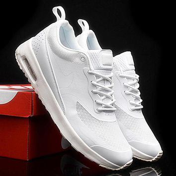 NIKE Women Men Running Sport Casual Shoes Sneakers Fashion Pure white