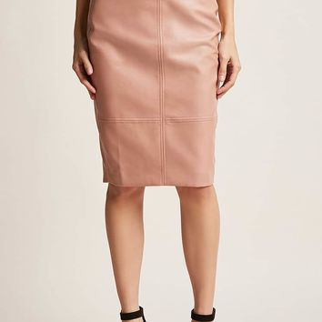 Selfie Leslie Faux Leather Pencil Skirt