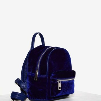 Boogie Oogie Oogie Mini Backpack - Blue Velvet
