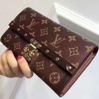 LV Louis Vuitton female classic classic flower leather clutch bags F-MYJSY-BB