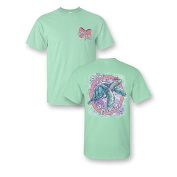 Sassy Frass Home is Where the Ocean Is Turtle Girlie Bright T Shirt