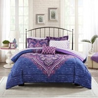 Hana 8pc Comforter Sheets Boho Bedding Set