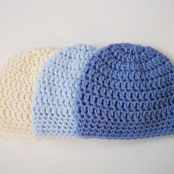 Baby boy Newborn hat Baby hat Crochet newborn hat Baby boy beanie New born beanie Boy New baby gift Crochet baby hat Coming home outfit