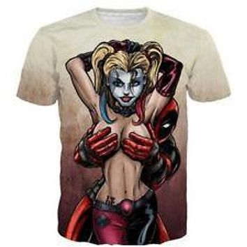 New Womens/Mens Bare Harley Quinn t shirt