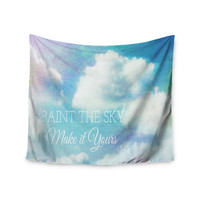 "Alison Coxon ""Paint the Sky!"" Blue White Wall Tapestry"