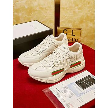 """Hot Sale """"GUCCI"""" Classic Popular Women Men Casual Sneakers Sport Shoes High Quality"""