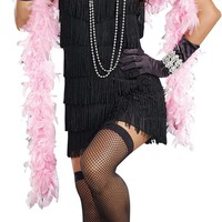 Flapper Basic Dress Adult Women's costume for Halloween