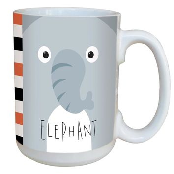 Elephant Animoji Mug - Large 15 oz Ceramic Coffee Mug
