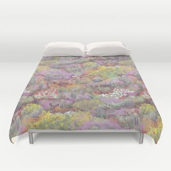 Life in Death Valley Duvet Cover by Ben Geiger