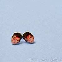 David Bowie Post Earrings