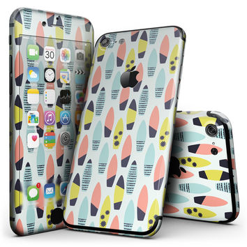 Vibrant Colored Surfboard Pattern - 4-Piece Skin Kit for the iPhone 7 or 7 Plus