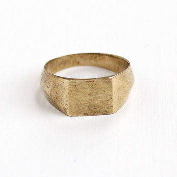 Vintage French Coin Ring - Size 8 Art Deco Dated 1923 Commerce Industrie Domard Inv Currency Aluminum Bronze Trench Art Jewelry from France