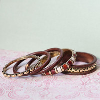 atop victoria falls wooden bangles - $21.99 : ShopRuche.com, Vintage Inspired Clothing, Affordable Clothes, Eco friendly Fashion