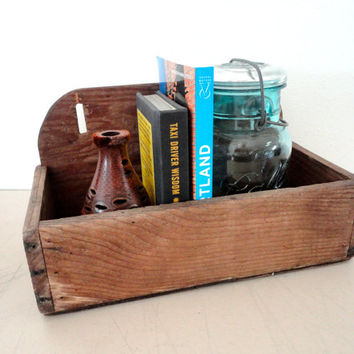 Wood Crate Wall Shelf Hanging Shelf Made From A Wood Crate Unusual Box Shelf