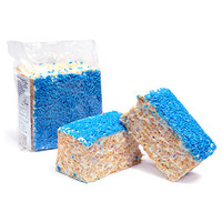 Giant Rice Crispy Treats - Blue Sprinkles: 6-Piece Box