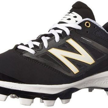 MDIGON new balance pl4040v3 tpu molded cleats low cut black white