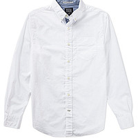Nautica Jeans Co. Long-Sleeve Solid Sportshirt