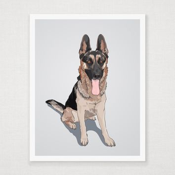 Karlo - German Shepherd - Art Print