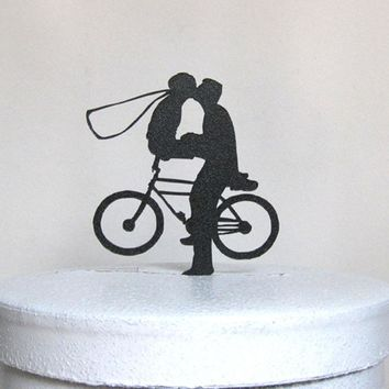 Customized Wedding Cake Topper with Bicycle