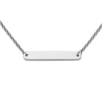 Engravable Horizon Necklace