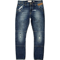 River Island MensMid wash Chester tapered jeans