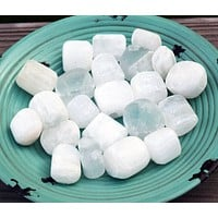 SELENITE Attune to Moon Energies - Calming Peaceful Stone Energy Drains Away Negativity - Aids Intuition & Angel Communication