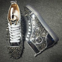 Cl Christian Louboutin Pik Pik Style #1977 Sneakers Fashion Shoes - Best Online Sale