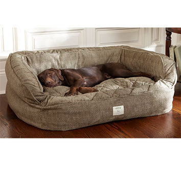 Dog Bed With Bolster / Lounger Deep Dish Dog Bed -- Orvis