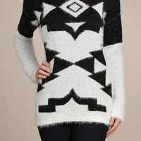 Geo Fuzzy Sweater