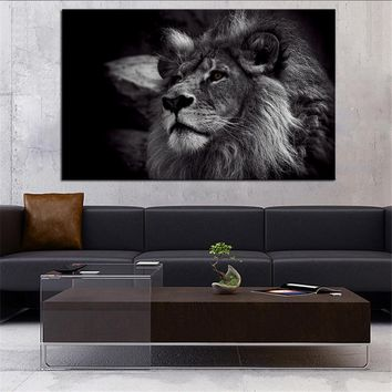 DPARTISAN Lion Black And White Giclee wall Art Abstract Canvas Prints No frame wall painting wall pictures for home decoration
