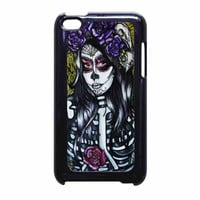 Floral Sugar Skull Day Of The Dead iPod Touch 4th Generation Case