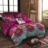 Bohemian Mandala Duvet Cover with Quilt Cover Bed Sheet Pillow Case Quilt Cover