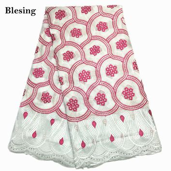 Blesing African voile Lace Fabrics pure Cotton Swiss Voile Lace wedding dress swiss voile laces in switzerland
