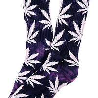 The Tie Dye Plantlife Crew Socks in Purple