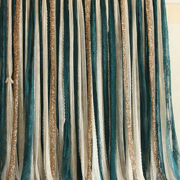 dark peacock green lace sparkle sequin photo booth photobooth backdrop banner Wedding ceremony stage,birthday,party backdrop curtain garland