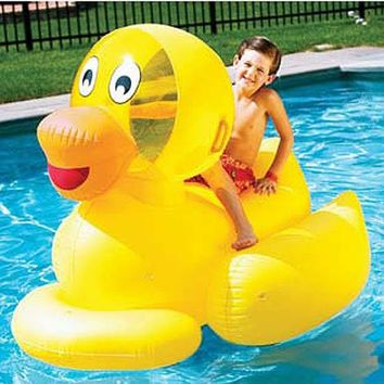 Giant Inflatable Ducky Swimming Pool Float Toy